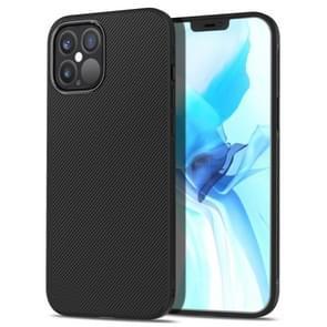 Voor iPhone 12 Pro lenuo Leshen Series Stripe Texture TPU Case(Zwart)