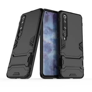 Voor Xiaomi Mi 10 Pro 5G PC + TPU Anti-fall Protective Case met Invisible Holder(Black)
