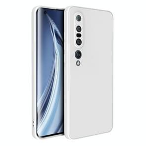 Voor Xiaomi Mi 10 Pro Magic Cube Liquid Siliconen Schokbestendige volledige dekking beschermhoes (Wit)
