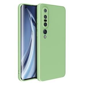 Voor Xiaomi Mi 10 Pro Magic Cube Liquid Siliconen Schokbestendige volledige dekking beschermhoes (Matcha Green)