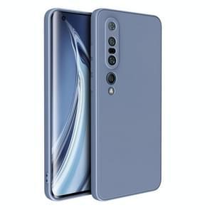 Voor Xiaomi Mi 10 Pro Magic Cube Liquid Siliconen Schokbestendige volledige dekking beschermhoes (Lavender Grey)