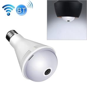 B2-Y 2 0 miljoen pixels 360-graden panoramische verlichting Monitoring Dual-use Kleurrijke Bluetooth WiFi Network HD Bulb Camera  Support Motion Detection & Two-way voice  Specification:Host+16G Card(White)