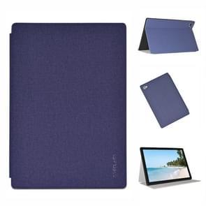 Voor Teclast P20HD Business Style horizontale flip pu lederen beschermhoes met houder(blauw)