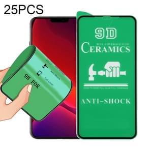 Voor iPhone 12 25 PCS 9D Full Screen Full Glue Keramische Film
