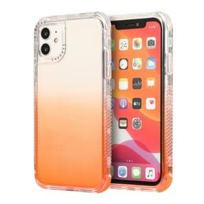 Voor iPhone 12 Pro Max 3 In 1 Dreamland PC + TPU Gradiënt Monochrome Transparante Border Protective Case(Oranje)