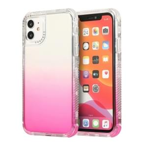 Voor iPhone 12 Pro Max 3 In 1 Dreamland PC + TPU Gradiënt Monochrome Transparante Border Protective Case(Roze)