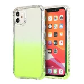 Voor iPhone 12 Pro Max 3 In 1 Dreamland PC + TPU Gradiënt Monochrome Transparante Border Protective Case(Groen)