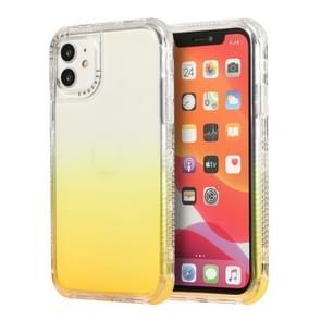 Voor iPhone 12 Pro Max 3 In 1 Dreamland PC + TPU Gradiënt Monochrome Transparante Rand Beschermhoes (Geel)