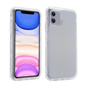 Voor iPhone 12 Pro Max 3 In 1 Dreamland PC + TPU Solid Color Transparent Border Beschermhoes (Zilver)
