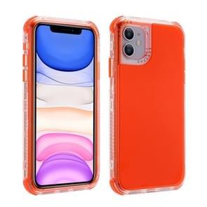 Voor iPhone 12 Pro Max 3 In 1 Dreamland PC + TPU Solid Color Transparent Border Beschermhoes(oranje)