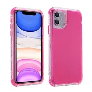 Voor iPhone 12 Pro Max 3 In 1 Dreamland PC + TPU Solid Color Transparent Border Beschermhoes (Roze)