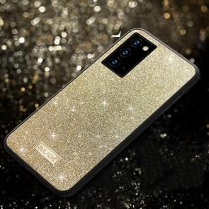 Voor Samsung Galaxy Note20 SULADA Schokbestendige TPU + Handgemaakte lederen hoes (Goud)
