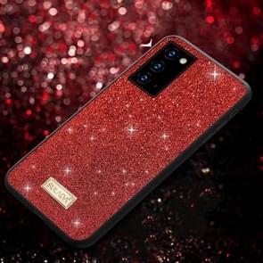 Voor Samsung Galaxy Note20 SULADA Schokbestendige TPU + Handgemaakte lederen hoes (rood)