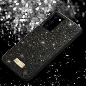 Voor Samsung Galaxy Note20 SULADA Schokbestendige TPU + Handgemaakte lederen hoes (Zwart)