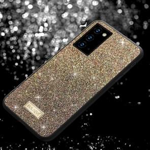 Voor Samsung Galaxy Note20 SULADA Schokbestendige TPU + Handgemaakte lederen hoes (kleurrijk)
