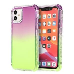 Voor iPhone 12 Pro Max 3 In 1 Dreamland PC + TPU Gradiënt Transparante Rand Beschermhoes in twee kleuren (paarsgroen)
