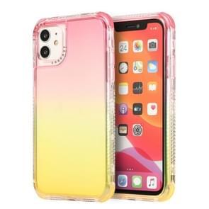 Voor iPhone 12 Pro Max 3 In 1 Dreamland PC + TPU Gradiënt Transparante Rand Beschermhoes met twee kleuren (Rood geel)