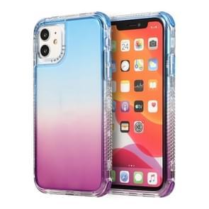 Voor iPhone 12 Pro Max 3 In 1 Dreamland PC + TPU Gradiënt Transparante Rand Beschermhoes met twee kleuren (Blauw Paars)