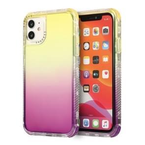 Voor iPhone 12 Pro Max 3 In 1 Dreamland PC + TPU-verloop Transparante randbeschermhoes met twee kleuren (Geel paars)