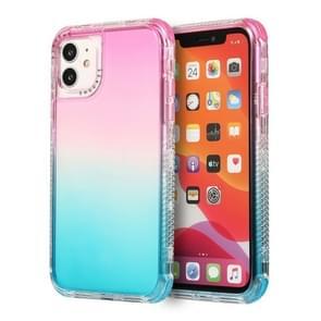 Voor iPhone 12 Pro Max 3 In 1 Dreamland PC + TPU Gradiënt Transparante Rand Beschermhoes met twee kleuren (Roze Blauw)