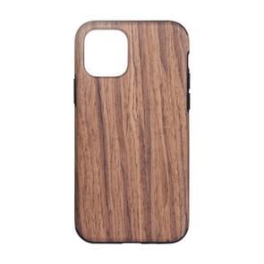 Voor iPhone 12 Pro Max Wood Texture TPU Beschermhoes (Rood sandelhout)
