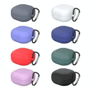 Voor Samsung Galaxy Buds Live Solid Color Anti-fall Earphone Beschermhoes met Hook(Groen)