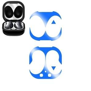 Voor Samsung Galaxy Buds Live Wireless Earphone Protective Case Protective Sticker(Blauw)