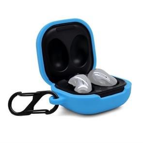 Voor Samsung Galaxy Buds Live Anti-fall Siliconen Oortelefoon beschermhoes met Hook(Blauw)