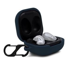 Voor Samsung Galaxy Buds Live Anti-fall Siliconen Oortelefoon beschermhoes met Hook (Sapphire Blue)
