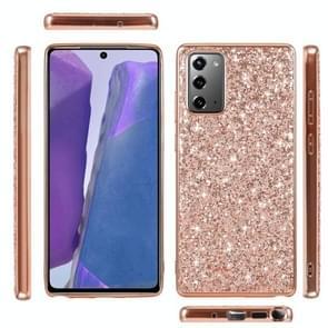 Voor Samsung Galaxy Note20 Ultra Glitter Powder Shockproof TPU Beschermhoes(Blauw)