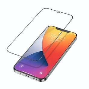 Voor iPhone 12 5 4 inch Benks V Pro+ Series 0 3 mm HD Frosted Tempered Glass Film + Metaalstoffilter