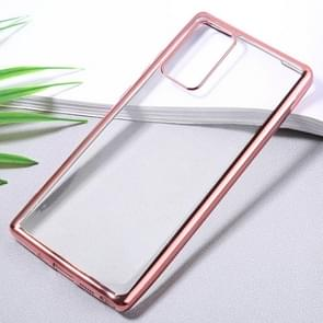 Voor Samsung Galaxy Note20 Ultra-thin Plating TPU Protective Soft Case (Rose Gold)