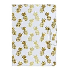 Voor Samsung Galaxy Tab 4 10.1 / T530 Painted Pattern Horizontale Flip Lederen case met houder(Ananas)