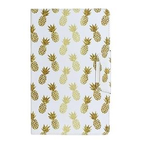 Voor Samsung Galaxy Tab E 9.6 / T560 Painted Pattern Horizontale Flip Lederen case met houder(Pineapple)