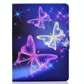 Voor iPad Air 2020 10.9 Elektrisch geperst gekleurde tekening horizontale flip lederen kast met Holder & Card Slots & Sleep / Wake-up Functie(Starry Sky Butterfly)