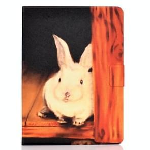 Voor iPad Air 2020 10.9 Elektrisch geperst gekleurde tekening horizontale flip lederen kast met Holder & Card Slots & Sleep / Wake-up Functie(Bugs Bunny)