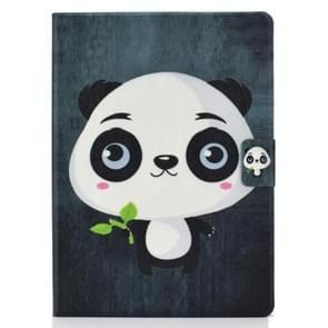 Voor iPad Air 2020 10.9 Elektrisch geperst gekleurde tekening horizontale flip lederen kast met houder & kaartslots & slaap / wake-up functie(Panda)
