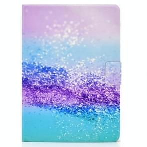 Voor iPad Air 2020 10.9 Elektrisch geperst gekleurde tekening horizontale flip lederen kast met houder & kaartslots & slaap / wake-upfunctie(kleur zand)