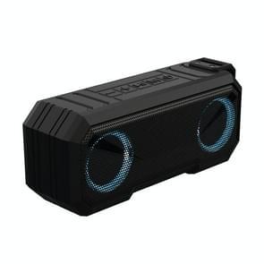 X8 Draadloze Bluetooth Speaker IPX7 Waterproof Color Light Subwoofer(Zwart)