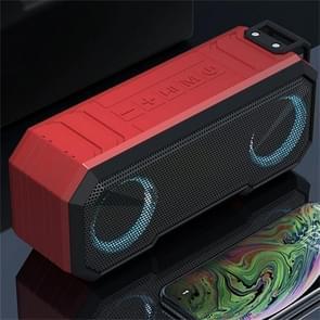 X8 Draadloze Bluetooth Speaker IPX7 Waterproof Color Light Subwoofer(Rood)