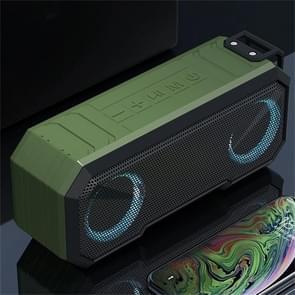 X8 Draadloze Bluetooth Speaker IPX7 Waterproof Color Light Subwoofer(Groen)