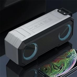 X8 Draadloze Bluetooth Speaker IPX7 Waterproof Color Light Subwoofer (lichtgrijs)