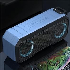 X8 Draadloze Bluetooth Speaker IPX7 Waterproof Color Light Subwoofer (Lichtblauw)