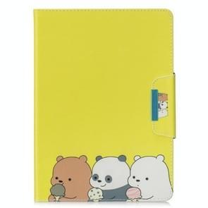 Voor Samsung Galaxy Tab 4 10.1 / T530 Painted Pattern Horizontale Flip Lederen case met Holder & Card Slots & Wallet(Bear familie)
