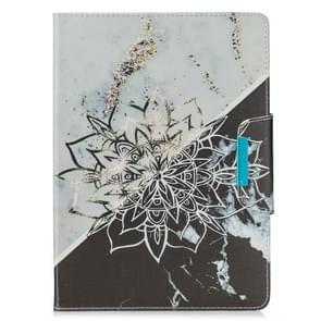 Voor Samsung Galaxy Tab 4 10.1 / T530 Painted Pattern Horizontale Flip Lederen case met Holder & Card Slots & Wallet (Sun Flower Marble)