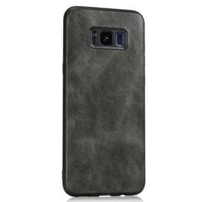 Voor Samsung Galaxy S8 Crazy Horse Getexturd Kalfsleer PU +PC + TPU Case (Groen)