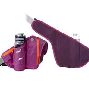 YIPINU YS9 Outdoor Cycling Mountaineering Sport Waterproof Mobile Phone Storage Waist Bag Kettle Bag (Paars)