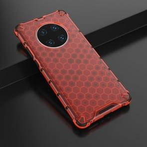 Voor Huawei Mate 40 Pro Schokbestendige honingraat PC + TPU beschermhoes(rood)