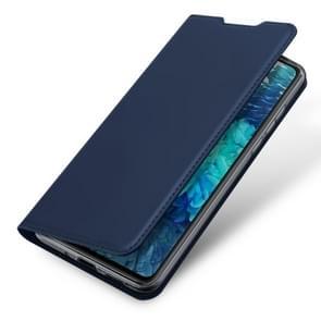 Voor Samsung Galaxy S20 FE DUX DUCIS Skin Pro Series Horizontale Flip PU + TPU Lederen case  met Holder & Card Slots(Blauw)