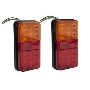 2 PCS Trailer / Truck B-type Long Strip 10LEDs Achterlicht met kentekenverlichtingset